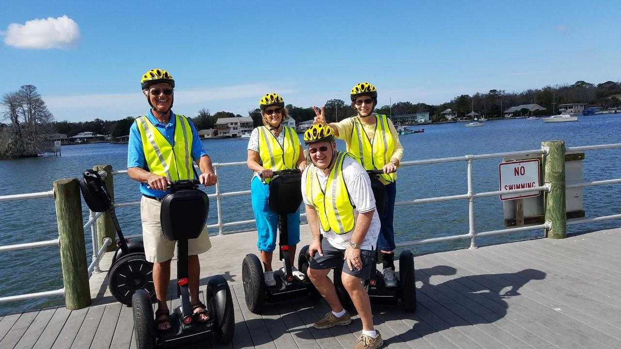 Ride-N-Glide Combo - Semi-Private Houseboat Manatee Tour with a Segway Experience - Crystal River