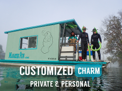 Private Houseboat Manatee Tour - The T-Fun Fantasy (3hr Heated) - Crystal River