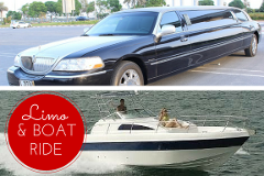 Limo & Boat Deal for 5 Pax