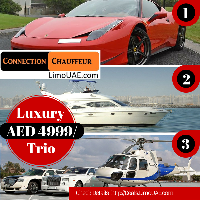 Luxury Trio - Ferrari/ Yacht/ Helicopter Deal - 2 PAX Deal