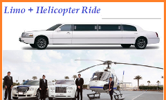 Limo + 12 Minutes Helicopter - 2 Pax Deal
