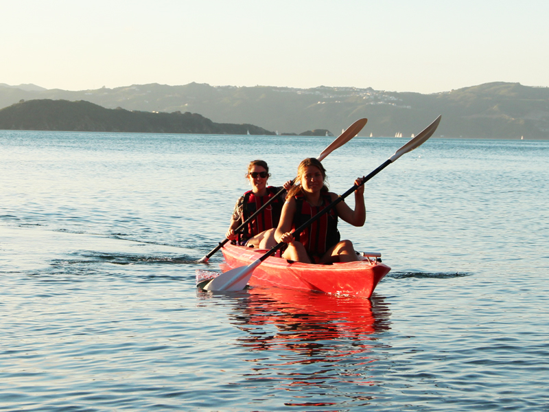 Double Kayak Hire 1 hour @ The Boatshed - Days Bay