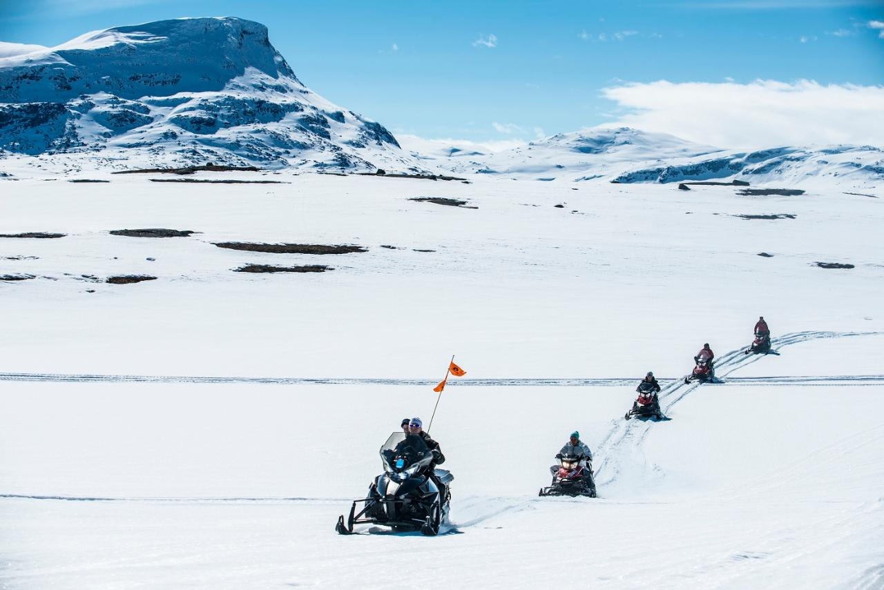 Snowmobile tour to Låktatjåkko Fjällstation (3635-623)