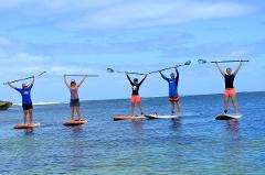 Stand Up Paddling Family