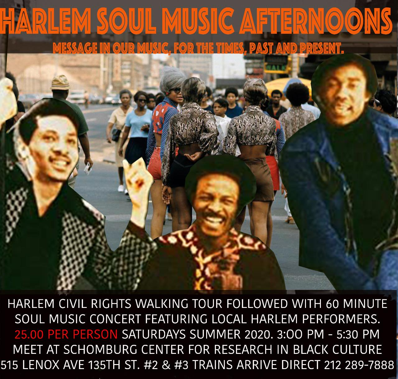 """Harlem Soul Music Afternoons - Message in Our Music Experience"""