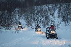 ABISKO - Snowmobile tour 2,5 h