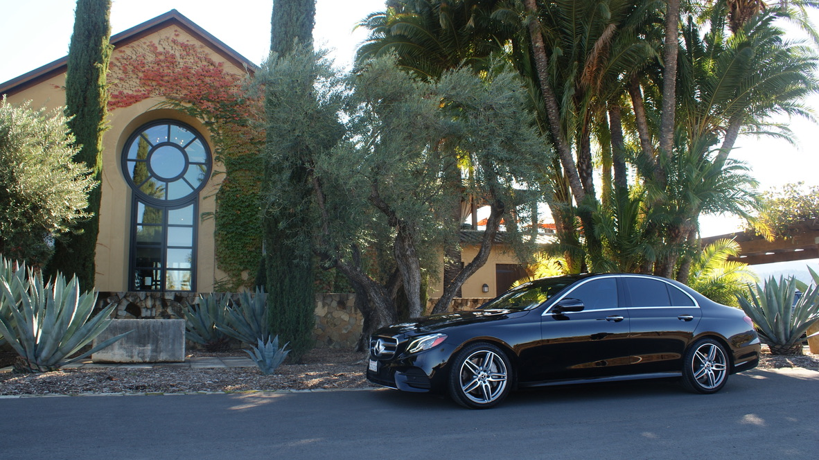 Mercedes Sedan E300 ( Seats 3 guests ) with a 6 Hour Minimum @ $70/Hr for Mon.-Sun.