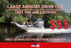 Large Airboat - Drive Yourself To The Dock - $55 Per Person ($30 Partial Payment)