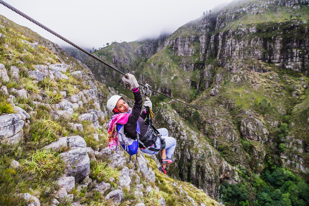 Cape Canopy Tour: Half Day Zipline and 4x4 Adventure - with Cape Town pickup