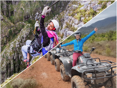 Zipline, 4x4 and Quadbiking Combo - with Cape Town Pickup