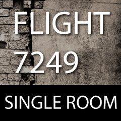 FLIGHT 7249- Full room escape for up to 8 people.