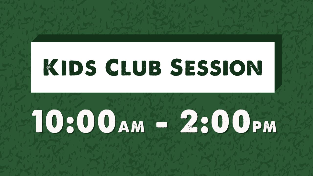 10am COMPLIMENTARY SESSION - Code: KIDSFREE1