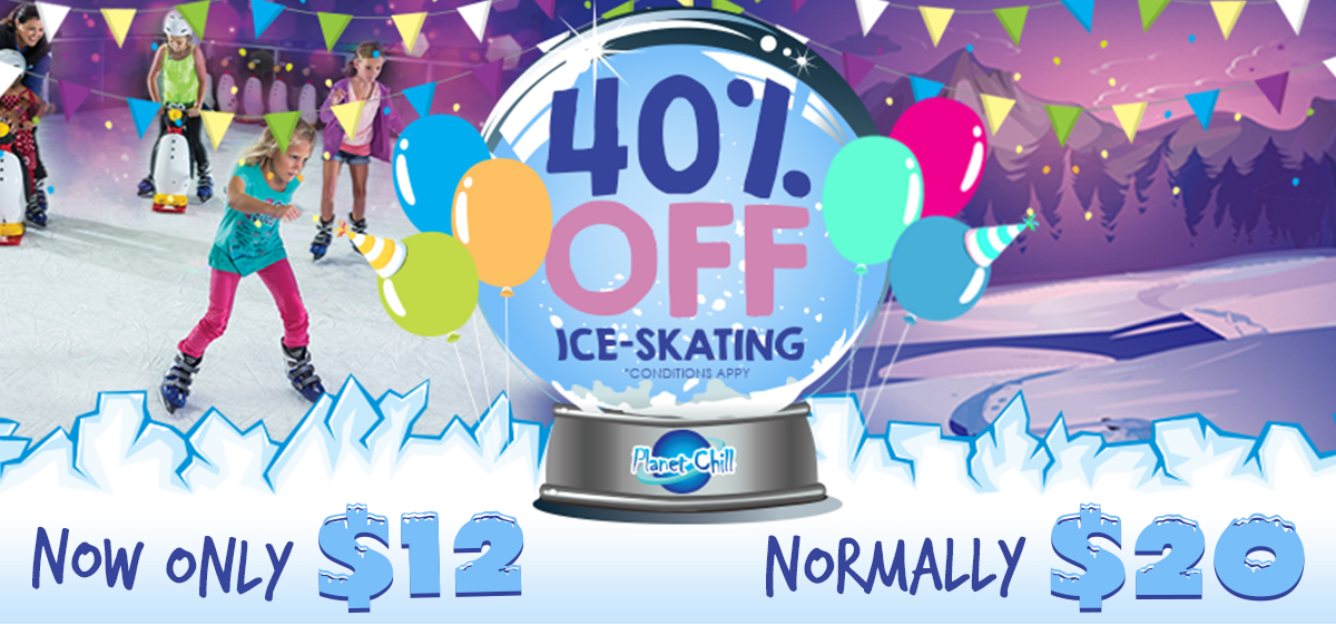 Planet Chill Ice-Skating Rink - 40% OFF SALE