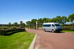 Hire our Modern 13 seater minibus and driver for the day-sit back and relax and let us do the driving