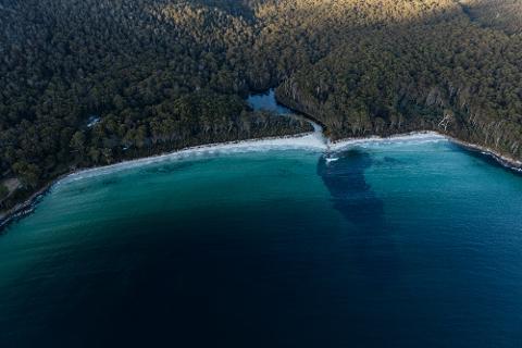 Sea Cliffs and Convicts helicopter flight Tasmania Australia