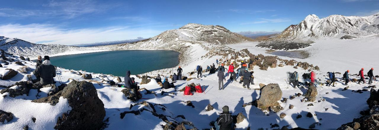 XXXX Winter Tongariro Alpine Crossing Guided Hike  INCLUDES: Return Transfers from CBD Taupo - Turangi or Whakapapa, includes all mountain gear!