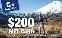 $200 Adrift Tongariro Gift Card