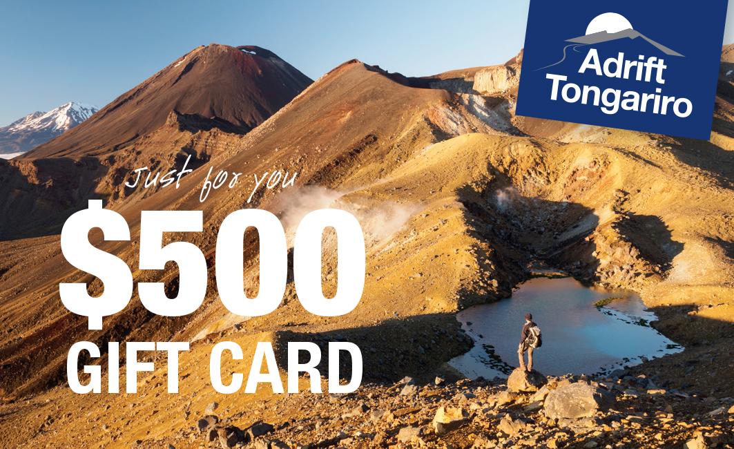 $500 Adrift Tongariro Gift Card