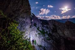 West Virginia Full-Moon Via Ferrata Rock Climbing