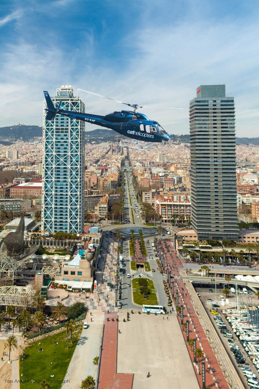 Fly&Sail – Helicopter Fly AM & Sailing Experience Barcelona PM