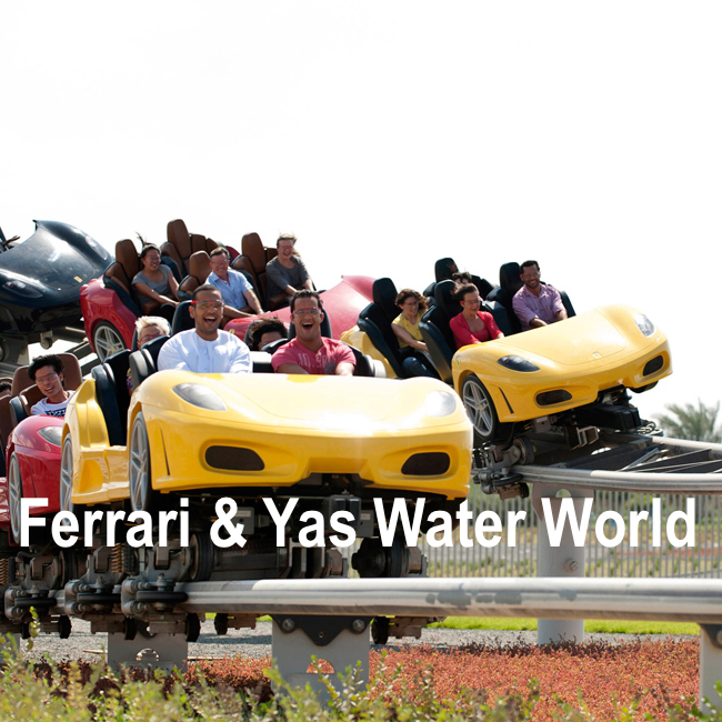 Ferrari World + Yas Water World - Abu Dhabi Full Day