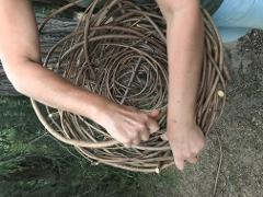 Hazelnut Cane basket weaving workshop