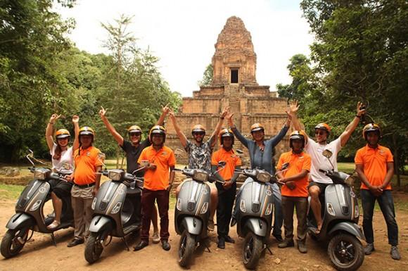 Vespa Our Angkor Tour