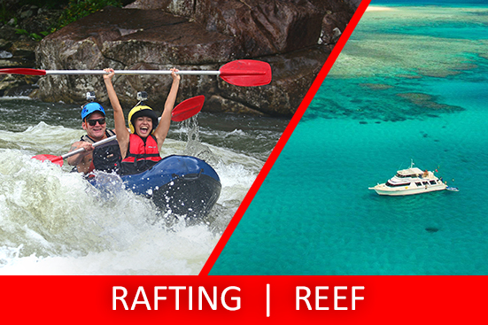 Half Day Sports Rafting & Full Day Snorkel the Reef