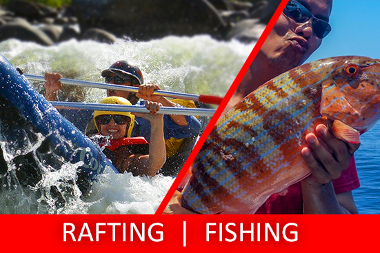 Full Day Sports Rafting & Fishing Charter PACKAGE