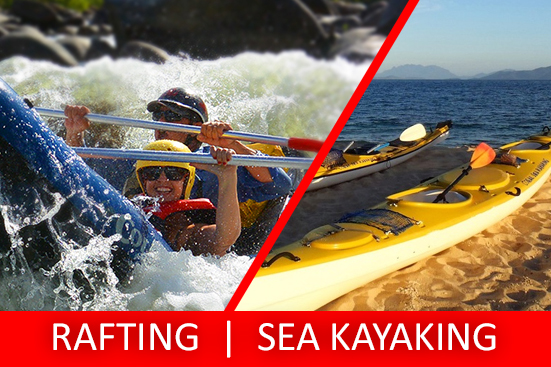 Full Day Sports Rafting & Sea Kayaking Tour PACKAGE