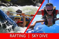 Full Day Sports Rafting & Sky DIving Tour PACKAGE