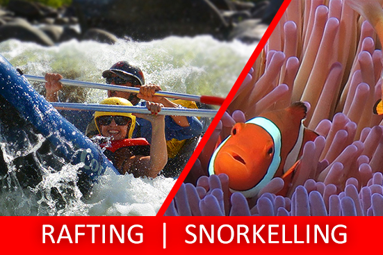 Full Day Sports Rafting & Snorkelling Tour PACKAGE