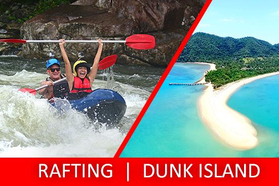 Half Day Sports Rafting & Half Day Dunk Island
