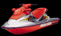 Jet Ski On Trailer - Two Seater - High Power, High Speed