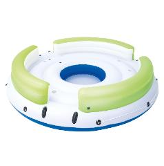 6-8 Person Islands w/6-8 dry seats, backrests, cup holders & a foot splash hole