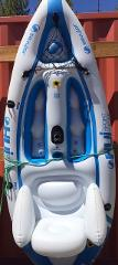 8' Solo INFLATABLE Kayak - Sit On Top - w/ Fishing Pole Holder