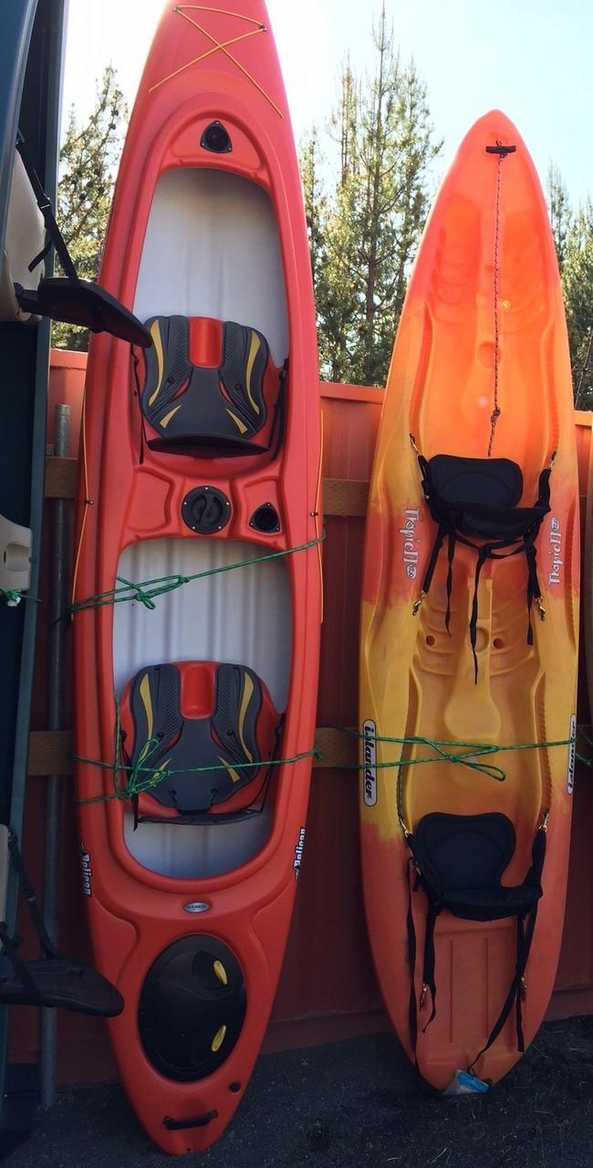 13 Tandem Hard Body Kayak Sit On Top Orange Sunriver