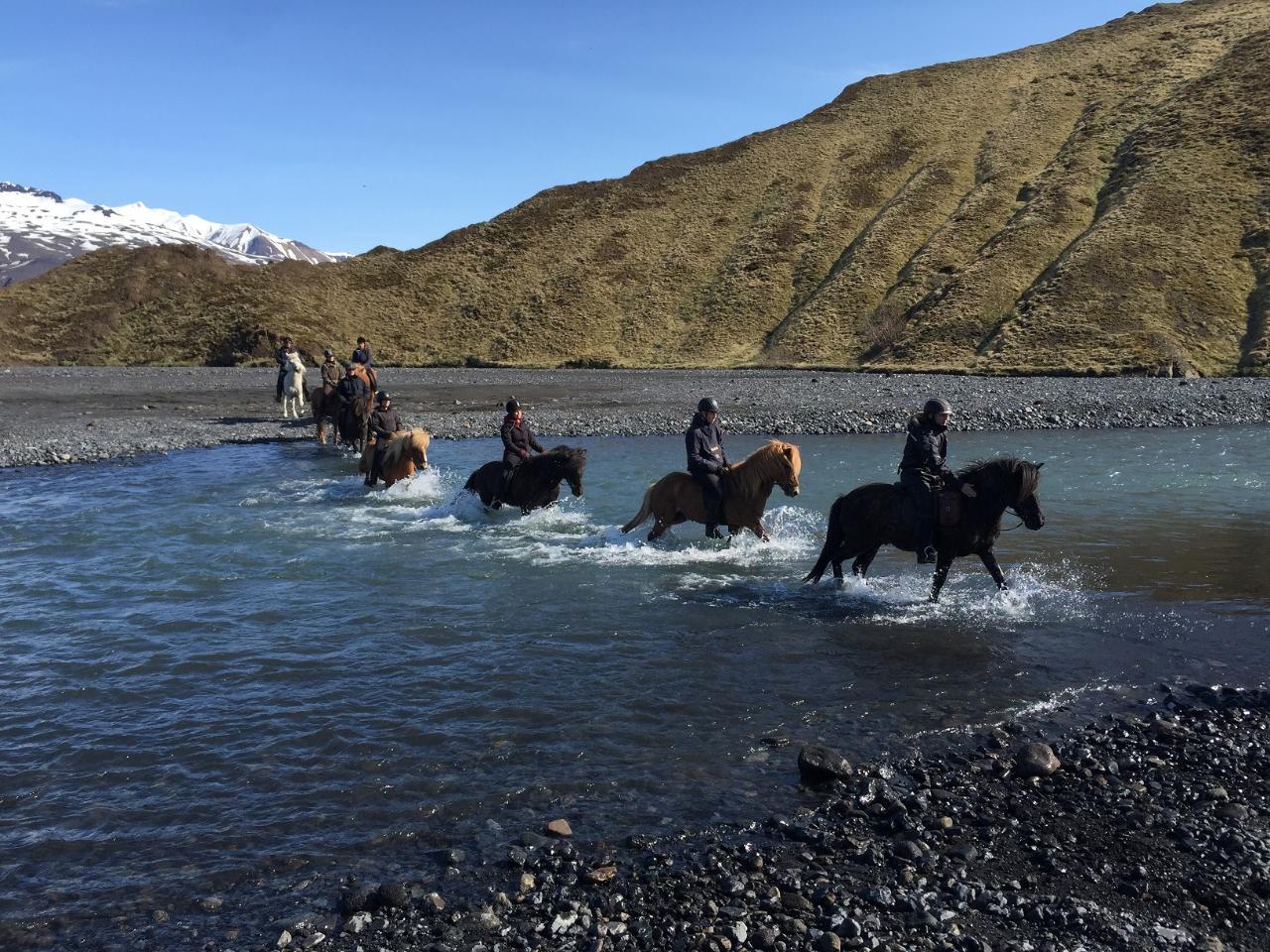 Thorsmörk nature reserve - Underneath glacier Eyjafjallajökull