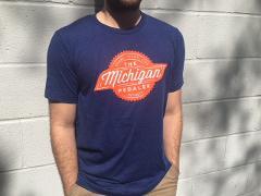 Pedal Laugh Live T-Shirt in Orange & Blue