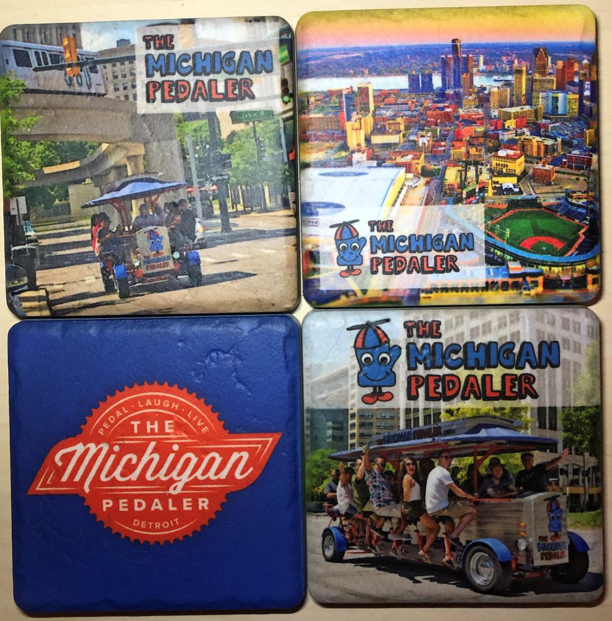 Michigan Pedaler Coasters