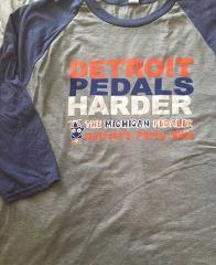 Detroit Pedals Harder  3/4 Jersey