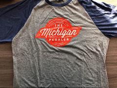Pedal Laugh Live 3/4 T-Shirt in Orange