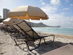 Umbrella & Chaise Lounge Set (RH Side)