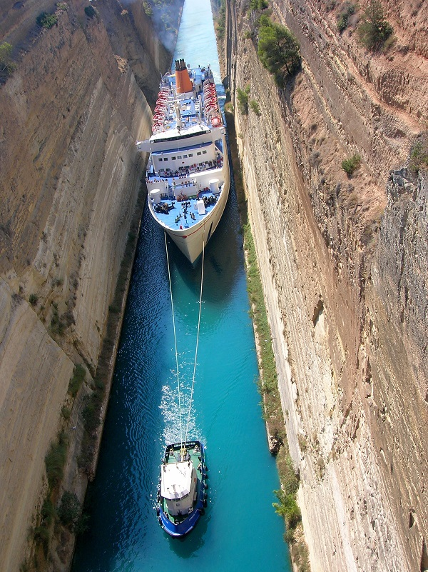 Corinth Canal Cruise & Corinth Canal from above