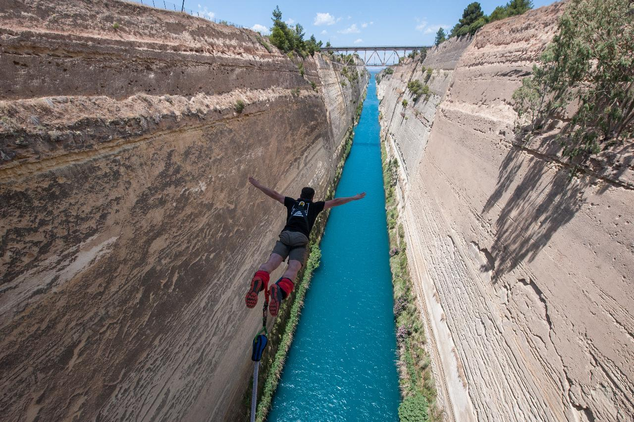 Corinth Canal- ZULU BUNGY One of the most exciting Bungee in the world!!!