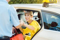 From central Athens to Athens international airport,  with TAXI or MINIVAN