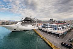 From Piraeus (port) to Athens international airport.