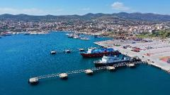 From central Lavrio or Lavrio port to Athens international airport, with TAXI or MINIVAN