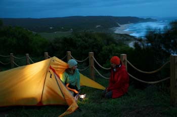 6 Day Assisted Camping Package, gear & water drops: Apollo Bay to 12 Apostles