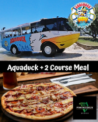 Aquaduck + 2 Course Meal at Finn McCools.